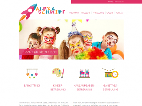 Website Design Berlin: Kinderbetreuung