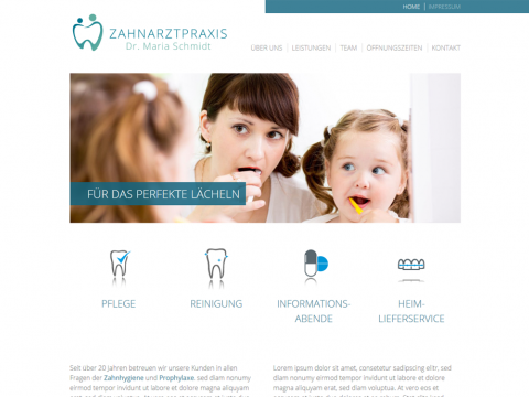 Website Design Berlin: Zahnarztpraxis