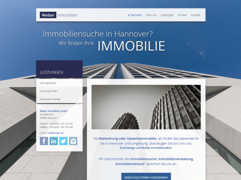 Website Design Hannover: Immobilien