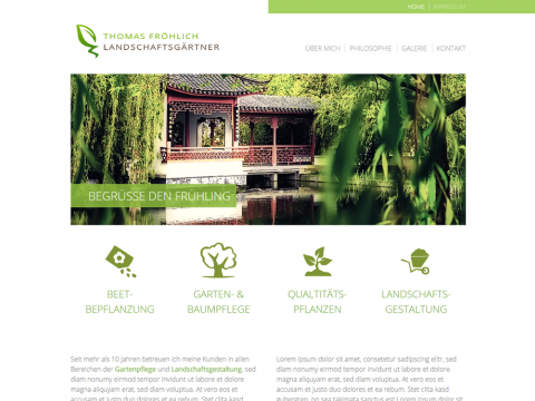 Website Design Berlin: Gartenbau