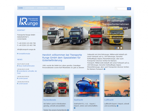 Website Design Frankfurt: Logistik