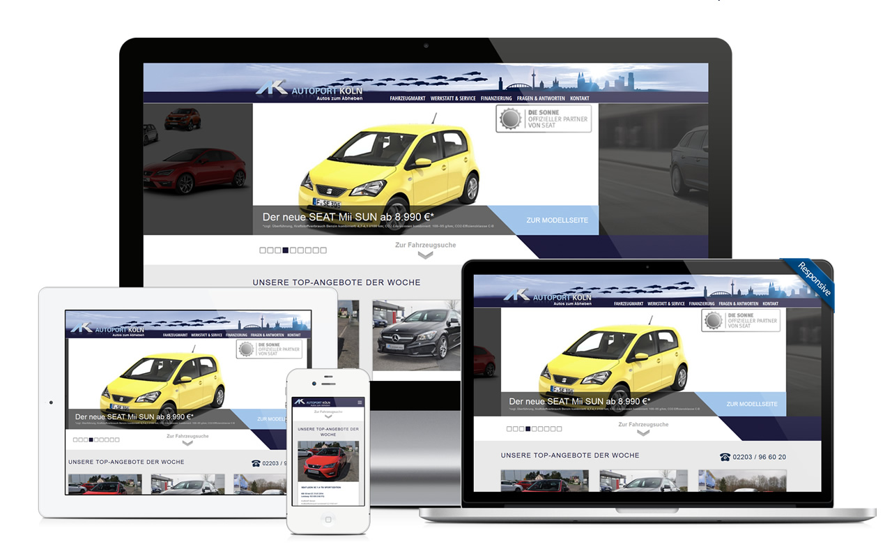 Autohaus Website Referenz - db classic cars, Berlin
