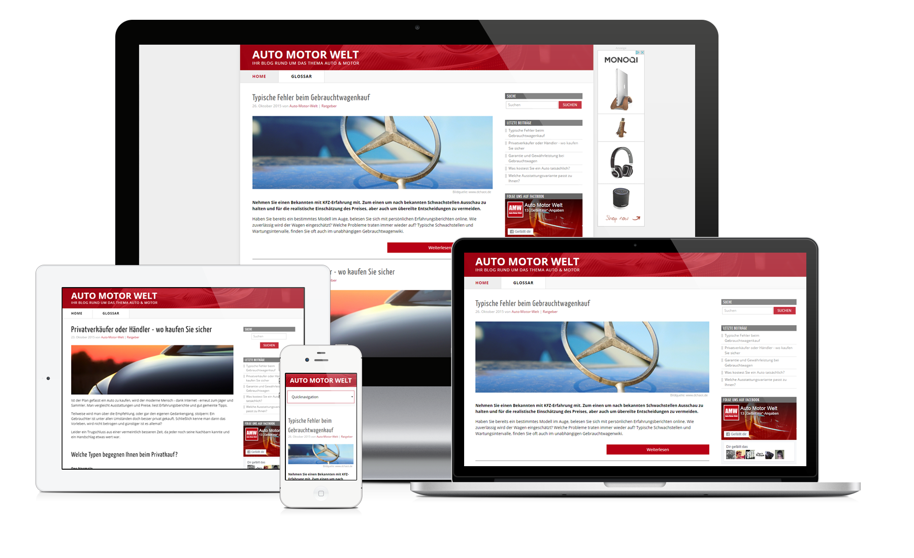 Website-Angebot BLOG: Corporate Blog Homepage-Paket